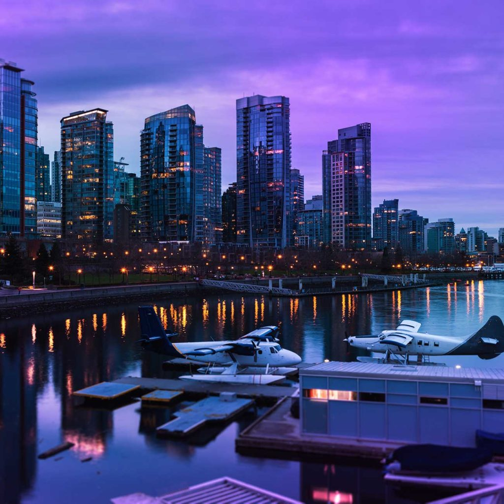 XPhyto Investment Vancouver City Skyline at Night